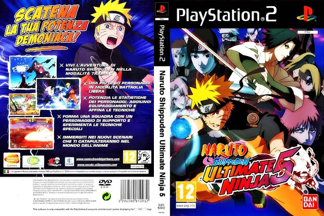 Descargar Naruto Shippuden - Ultimate Ninja 5 ps2 iso NTSC-PAL (ナルト-疾風伝ナルティメットアクセル2, Naruto Shippuden: Narutimetto Akuseru 2 ) es la quinta entrega de la Ultimate Ninja serie.