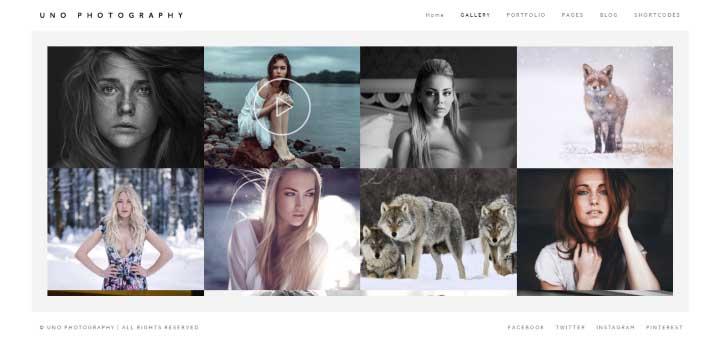 Uno Creative WordPress Photography Theme