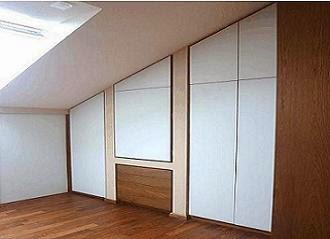 Elegant excellent finest armadi su misura per su misura per sottotetto realizzati con progetti - Armadi per mansarde ikea ...
