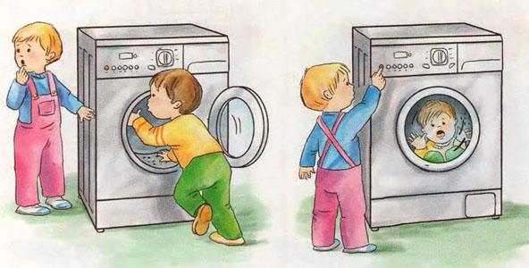 Esconderse en la lavadora