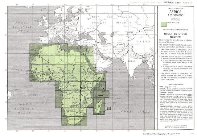 تحميل الخرائط الطبوغرافية لأفرقيا Africa 1:2,000,000