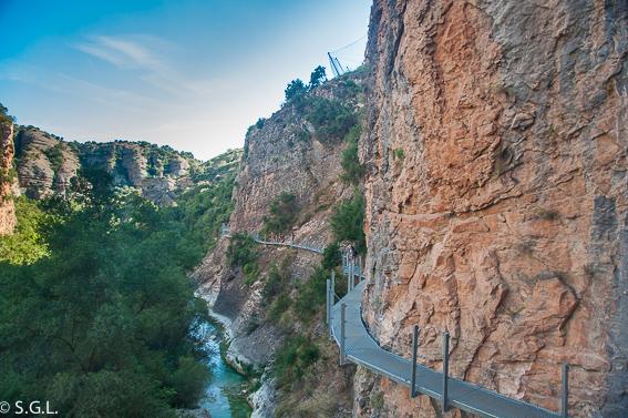 Pasarelas del río Vero. Recorrido por Huesca
