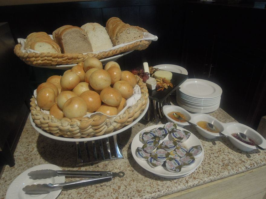 Bread station at Spice Market's breakfast buffet in Misibis Bay
