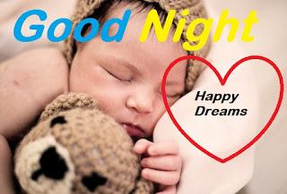 cute baby good night wallpaper