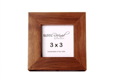 rustic refined wood frame