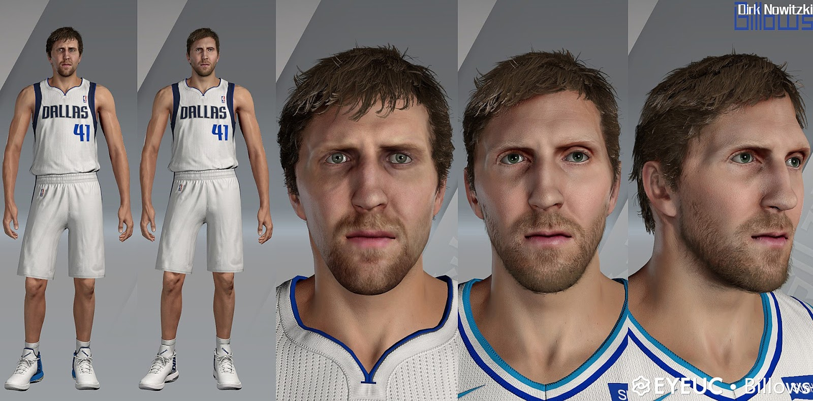 Dirk Nowitzki Cyberface Hair And Body Model By Billows For 2k20 The start of something special #nbadraft. elisessports blogger