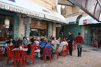 Fountain coffee shop, in Shouk Afthemos,an ample selection of authentic Arabic salads, falafel and shuwarma