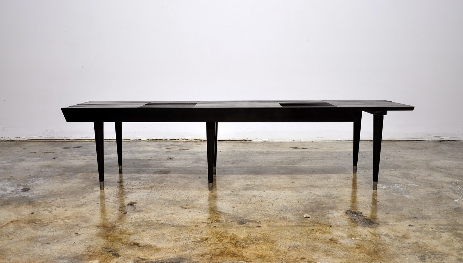 Select Modern Black Expandable Slat Bench Or Coffee Table