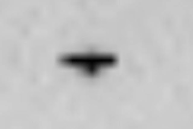 The rover photographed the soaring triangular UFO