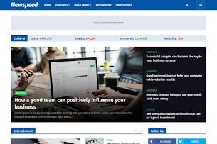 Newspeed - modelo de blogger de notícias profissionais e revistas