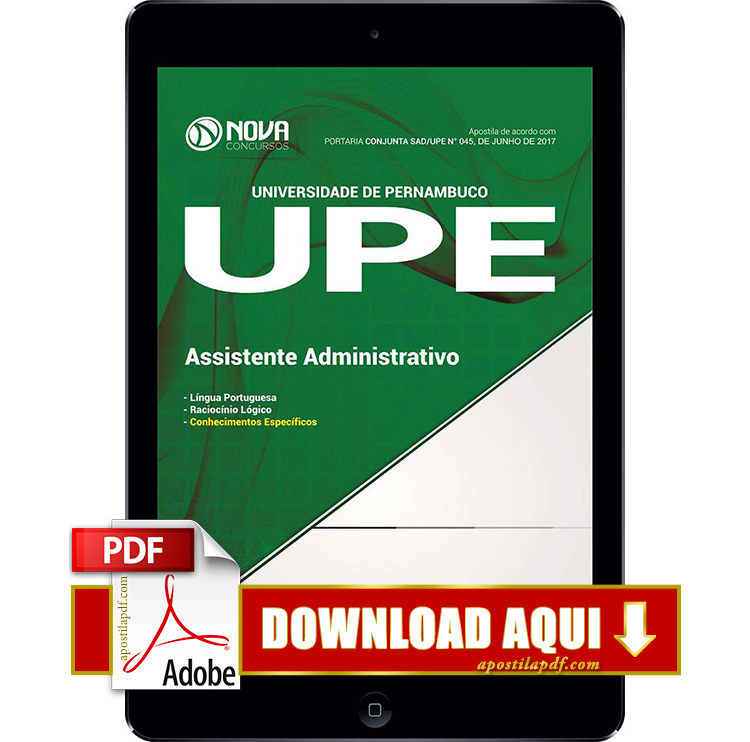 Apostila UPE 2017 PDF Download Assistente Administrativo