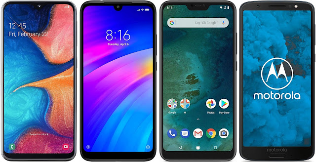 Samsung Galaxy A20e vs Xiaomi Redmi 7 32G vs Xiaomi Mi A2 Lite 32G vs Motorola Moto G6 32 GB