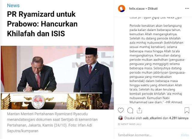 Ustadz Felix Prabowo Ryamizard