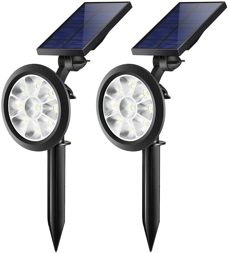 60% off TRODEEM Bi-color Solar Landscape Spotlights - 2Pack