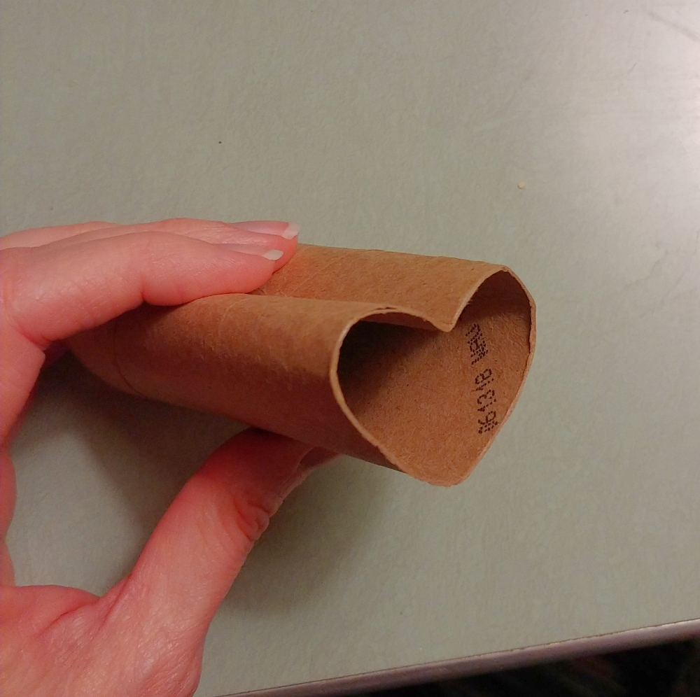 toilet paper tube heart