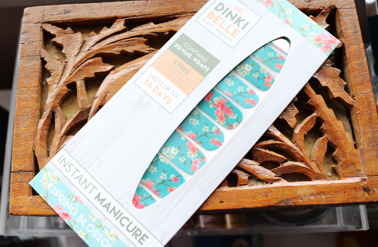DinkiBelle Nail Wraps in Spring Blossom review