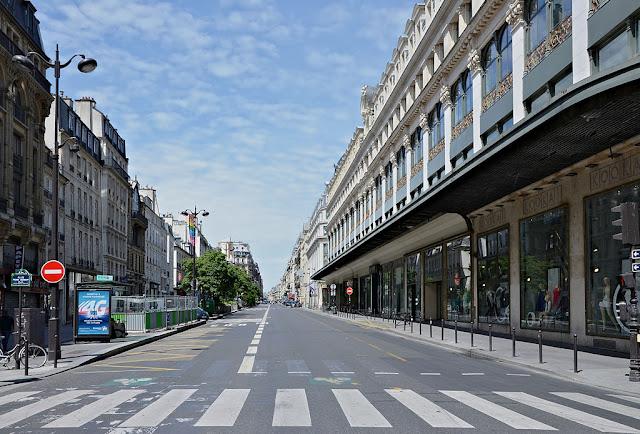 Une rue de Paris, uen ville à l'immobilier particulièrement cher !