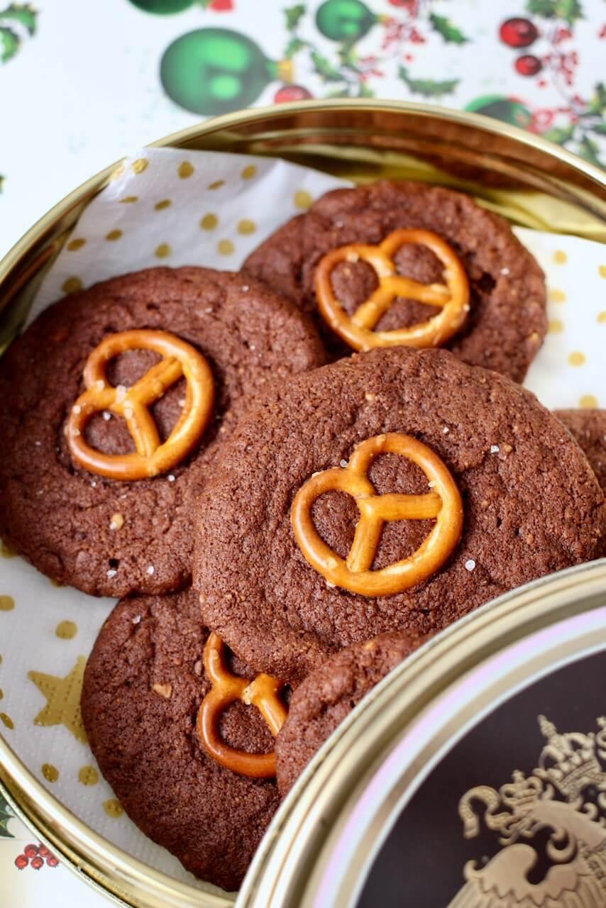 Rezept Brezel-Kekse mit Schokolade