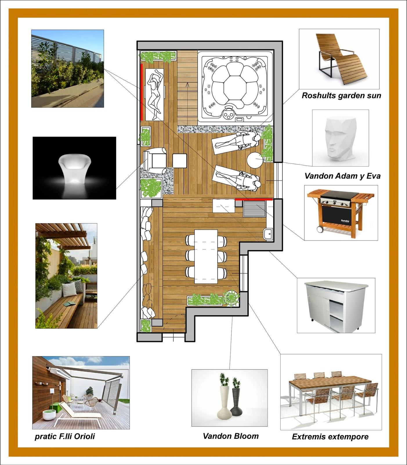 Arredamento e dintorni progetto arredo terrazzo for Progetto arredo