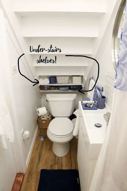 แบบห้องน้ำใต้บันได