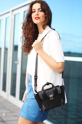 Rok Mini A Line Kulit Leather Ide fashion