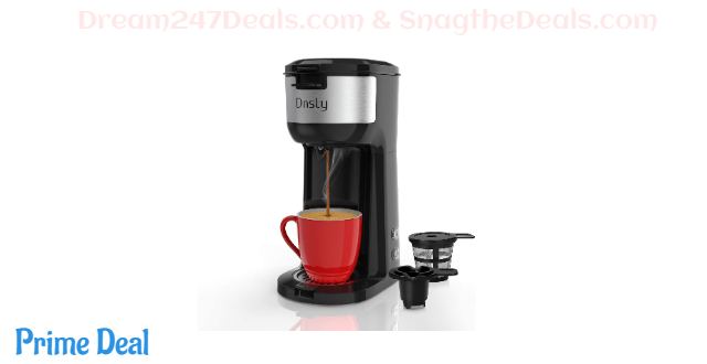 50%off Coffee Maker Single Serve, for K-Cup Pod & Ground Coffee 2 in 1 Coffee Machine, Strength-Controlled Self Cleaning Function, Advanced Black