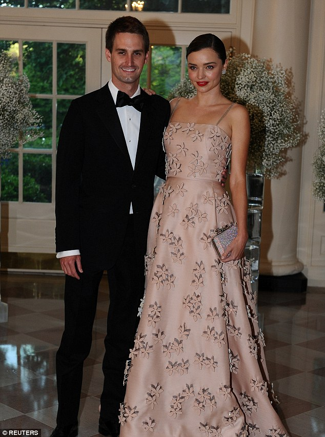 Miranda Kerr gets engaged to billionaire Snapchat founder boyfriend