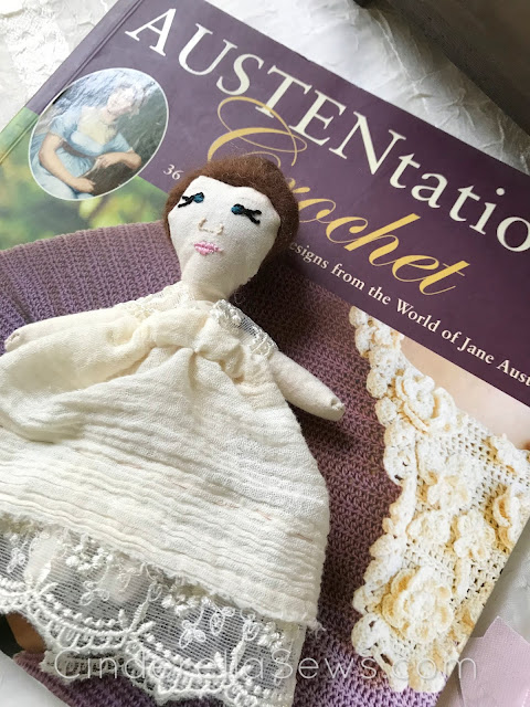 Sewing for mental health, stitching Elizabeth Bennet, and fabric fungi #fabricmushrooms #mushrooms #prideandprejudice #handmadedolls