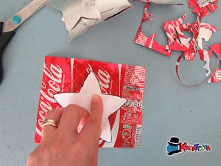 creare stelle con lattine alluminio