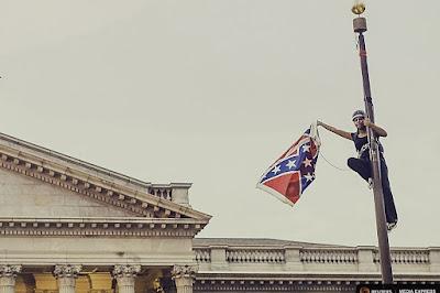 Bree Newsome taking down South Carolina Confederate flag
