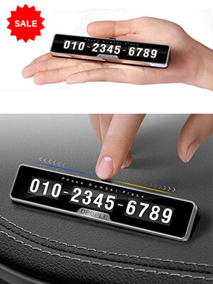 Mobile Number Parking Card For Cars