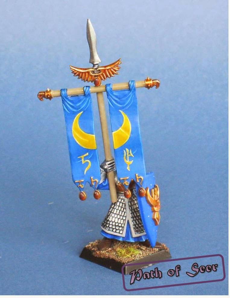 PATH OF SEERS: Free-hand Tutorial: High Elves Banner