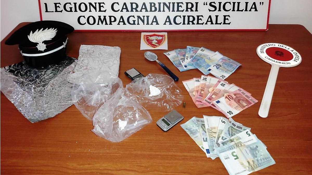 Viagrande Cocaina Carabinieri