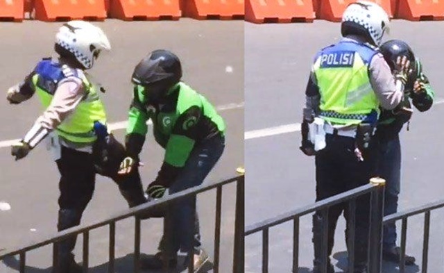 Polisi Tendang Ojol di Bogor - IGmamadiniesta26