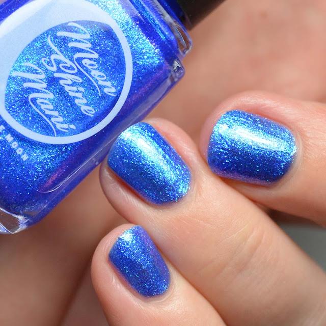 blue shimmer nail polish