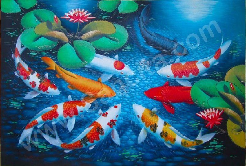lukisan ikan laut