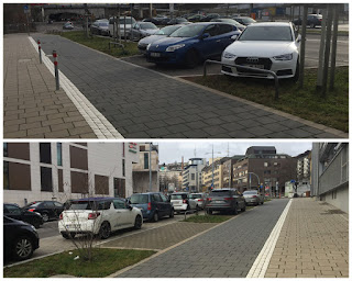 Radeln auf der Nordbahnhofstraße