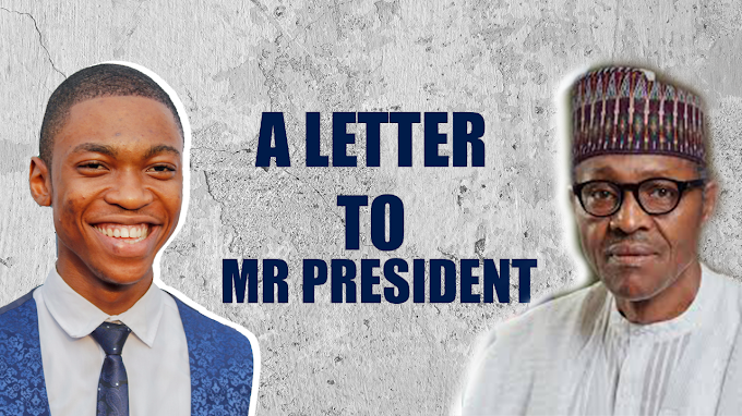 Nursing Student sends a letter to Mr. President