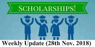 SCHOLARSHIP ROUNDUP 28th Nov. 2018