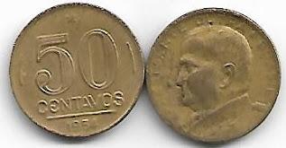 Moeda de 50 centavos, 1954