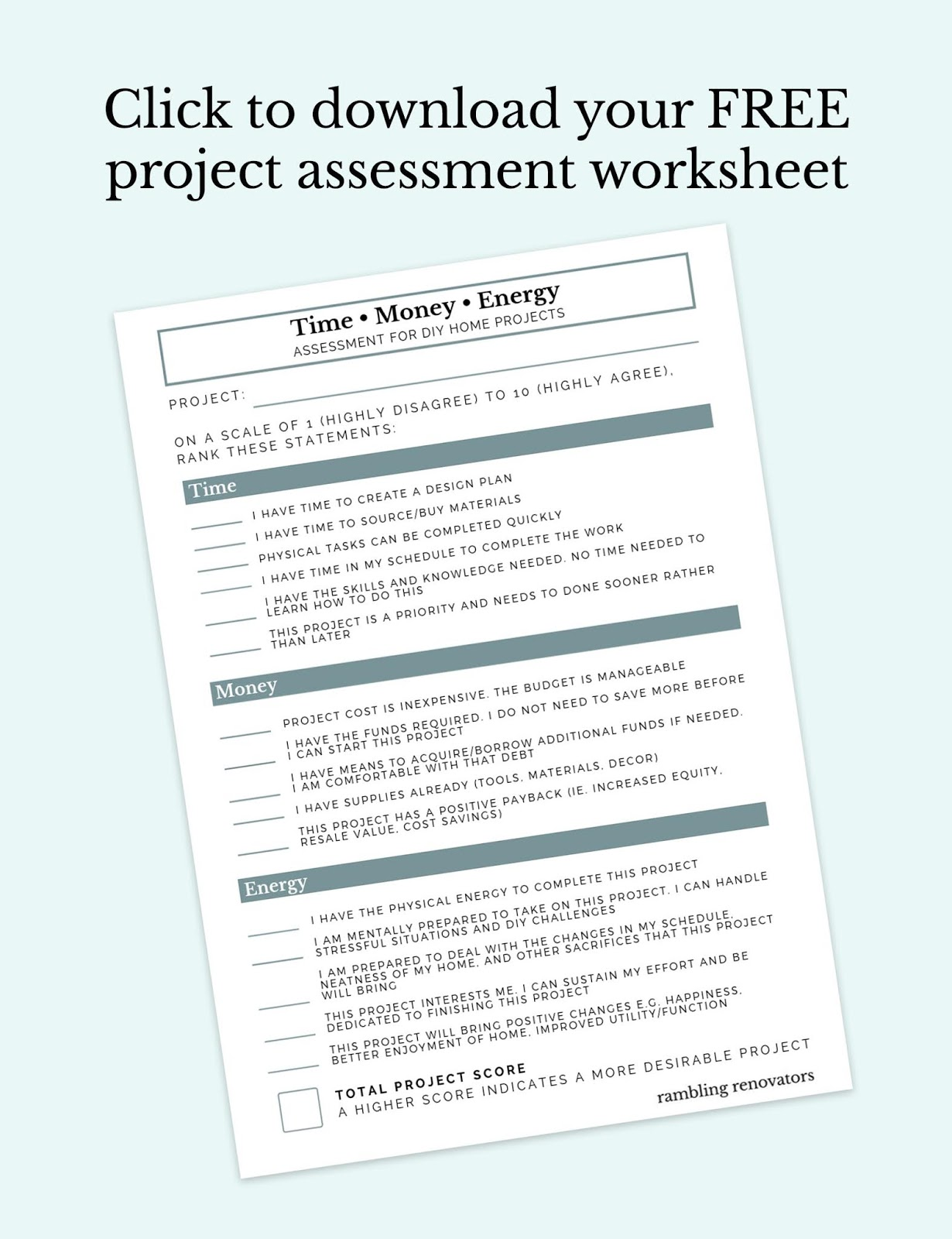 how to decorate, diy home project assessment, project assessment checklist