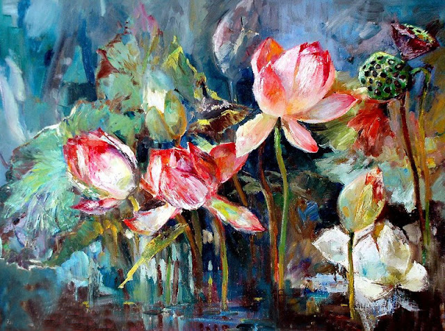 hoa sen nghệ thuật