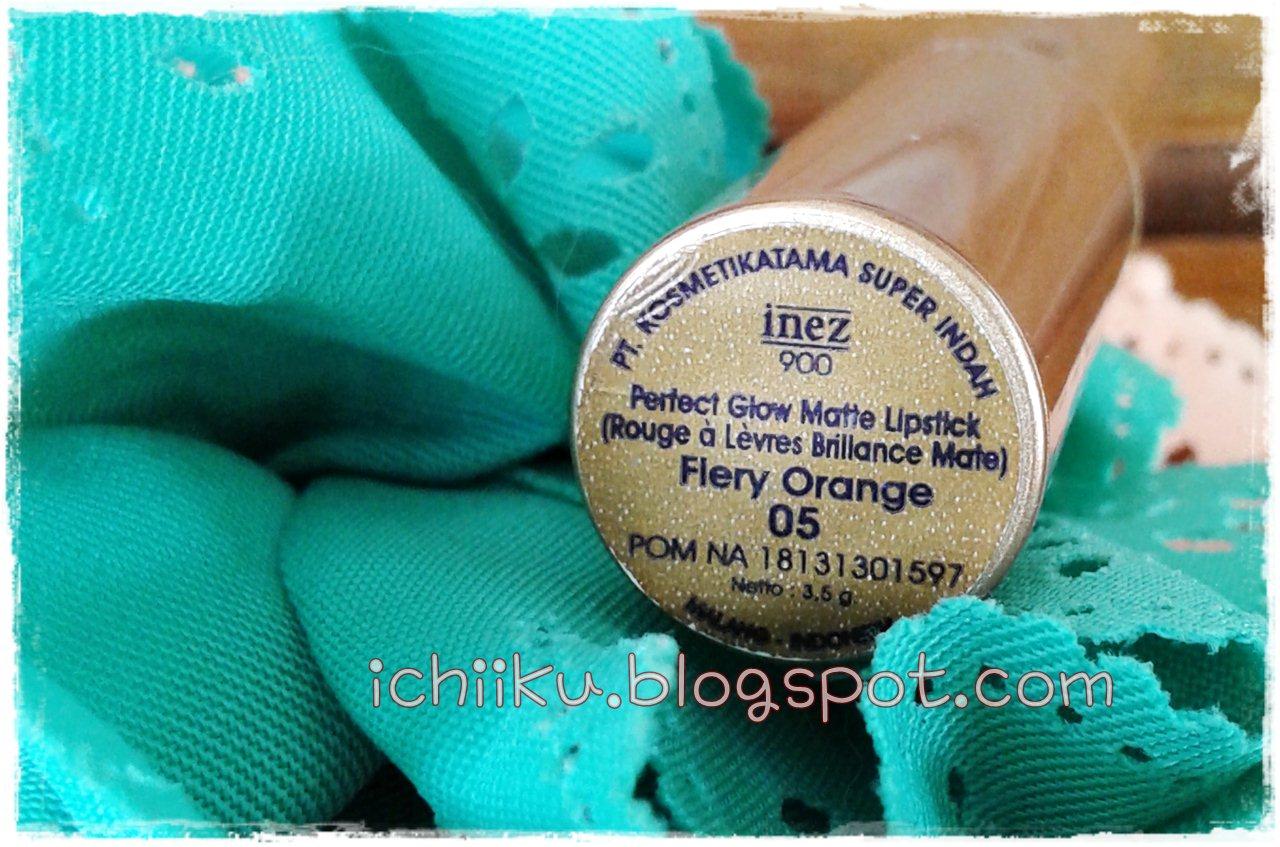 Review Inez 900 Perfect Glow Matte Lipstik Fiery Orange