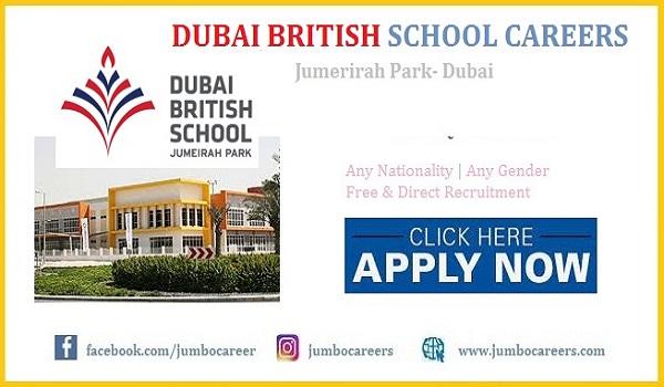 Dubai British School Jumeirah Park (DBSJP) Careers 2021