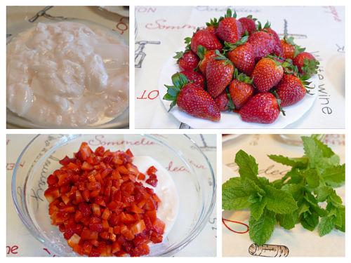 Fresas con yogur