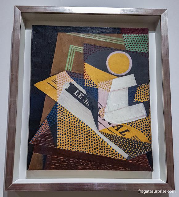 Juan Gris, Jornal e Prato de Frutas, Museu Guggenheim, Nova York