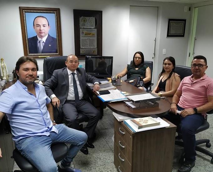 Prefeitos de Senador Sá fazem mais uma visita ao gabinete do Dep. Sergio Aguiar. Confira!