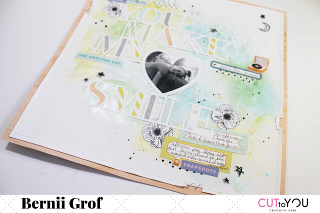"""You make my heart happy"" layout by Bernii Grof for CUT to YOU design team ."