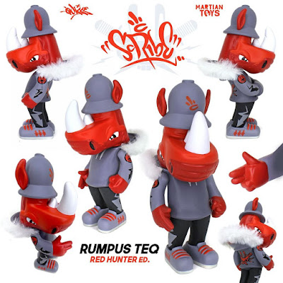 Rumpus TEQ Red Hunter Edition Vinyl Figure by Scribe x Quiccs x Martian Toys