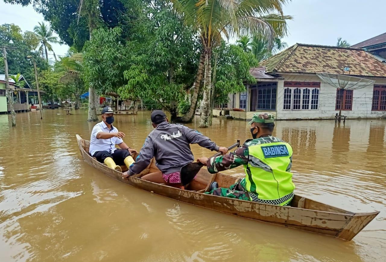 Air Sungai Menguap, Empat Desa di Berbak Terendam Banjir